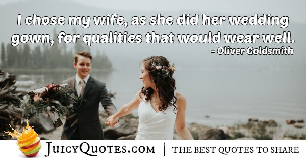 Wife and Wedding Gown Quote