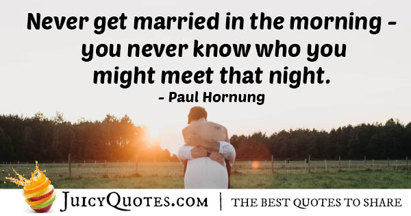 Wedding at Night Quote