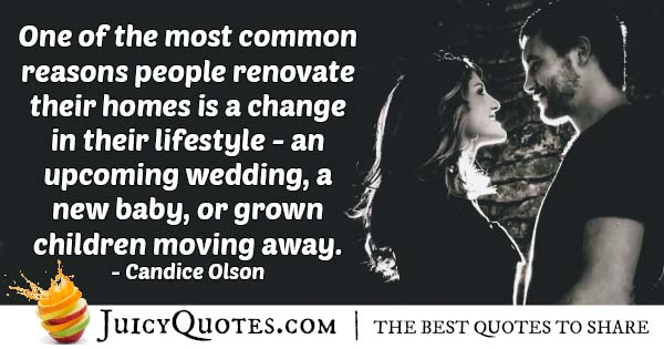 Wedding and Renovating Quote
