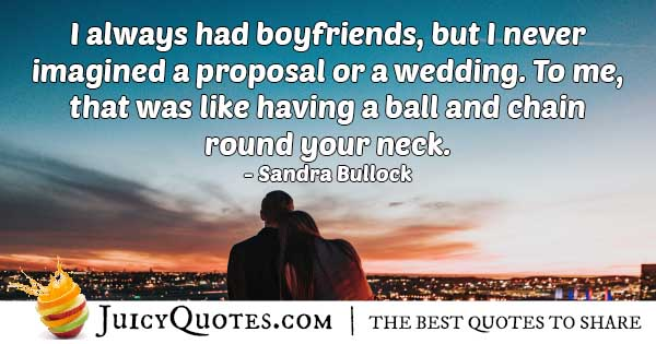 Wedding Ball and Chain Quote