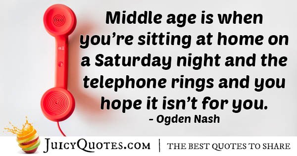 Telephone On Weekend Quote