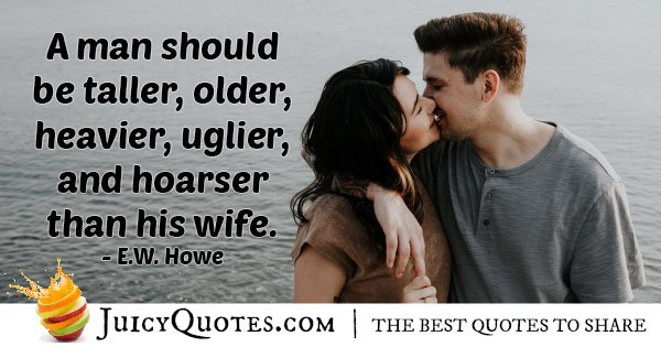 Wife And Type Of Man Quote