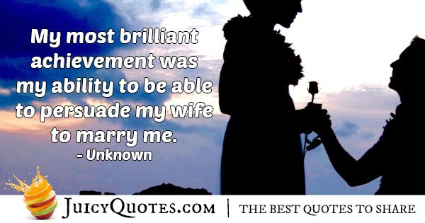 Persuade My Wife Quote