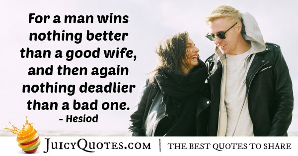 Good Or Bad Wife Quote