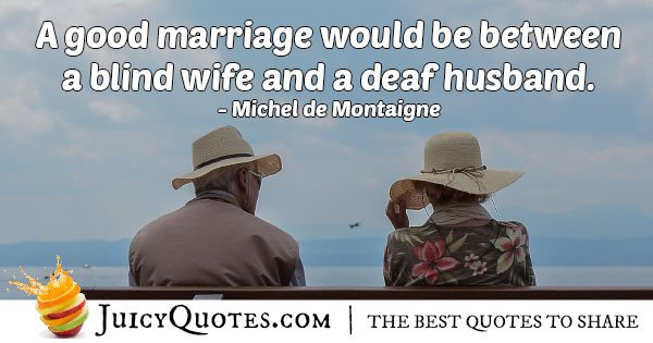 Good Marriage With Wife Quote