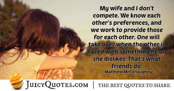 Wife And Friendship Quote