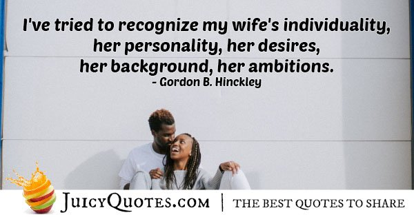 Wife Individuality Quote