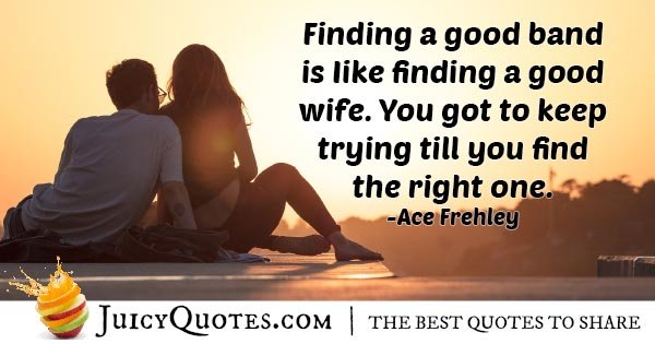 Find The Right Wife Quote