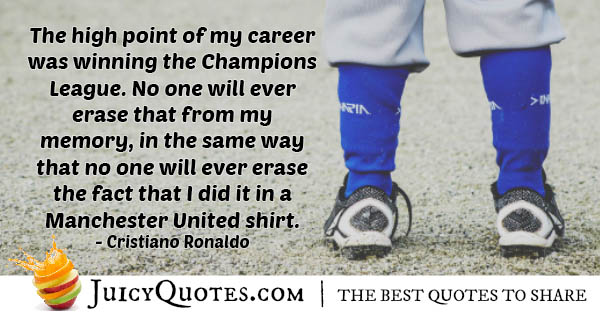 Winning For Manchester Quote