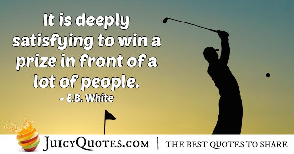 Winning A Prize Quote