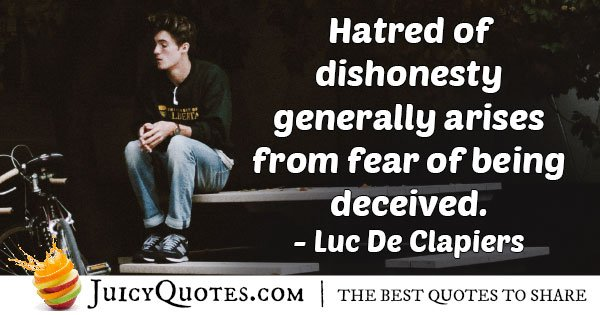Dishonesty And Fear Quote