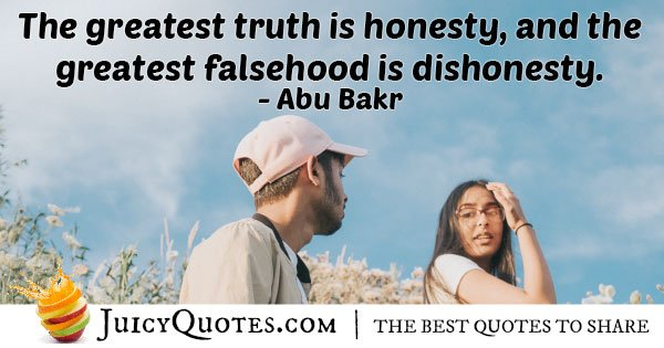 Dishonesty Falsehood Quote