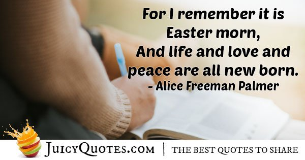 Easter Morning Quote