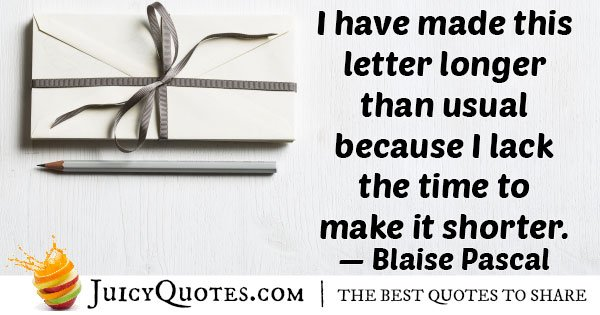 Famous Letter Quote