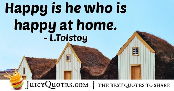 Famous Happy Home Quote