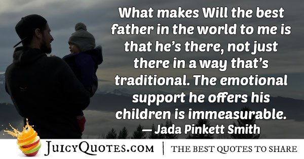 Fathers Support Quote