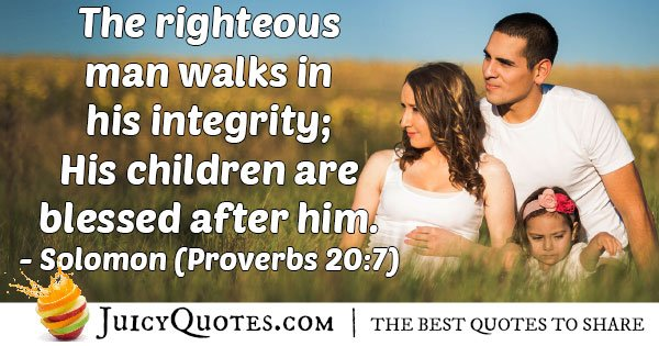 Righteous Father Quote
