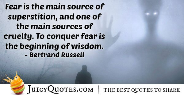 Fear And Superstition Quote