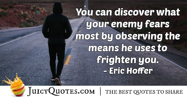 Enemy Fears Quote
