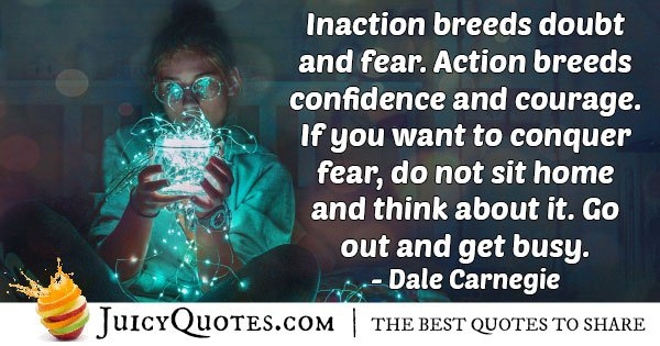 Inaction and Fear Quote