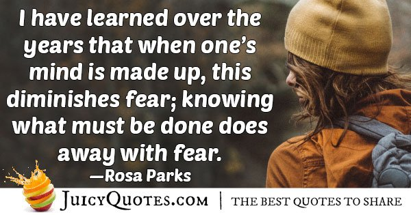 Diminishes Fear Quote
