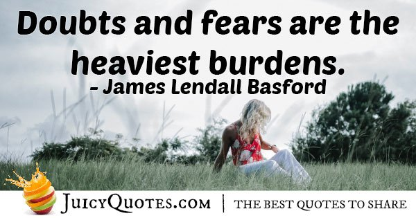 Doubts And Fears Quote