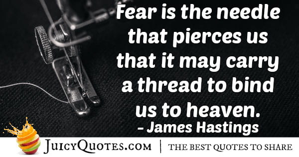 Fear to Heaven Quote