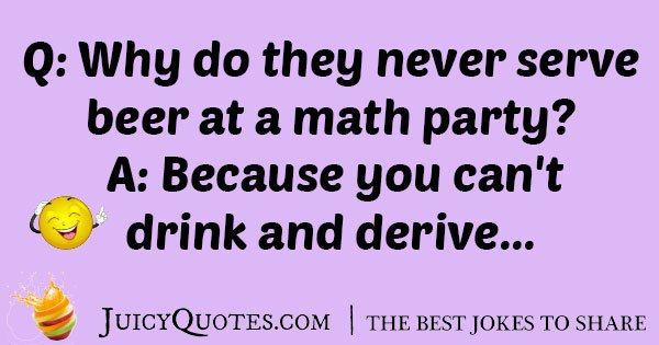 Math Party Joke