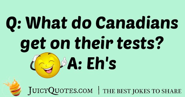 Canadian Test Joke