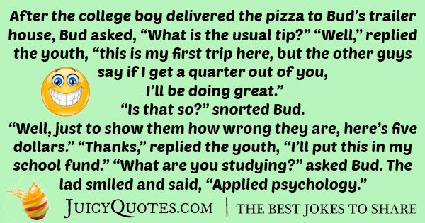 College Delivery Boy Joke
