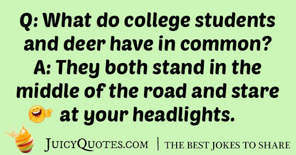 Silly College Student Joke