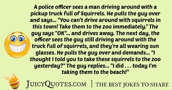 Joke about Police and Squirrels