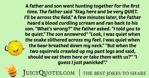 Hunting and Squirrels Joke
