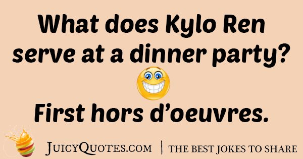 Starwars Dinner Party Joke