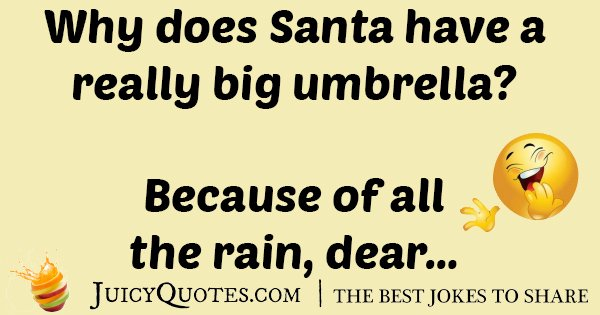 Santa's Umbrella Joke