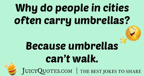 City Umbrella Joke