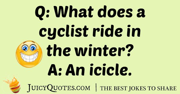 Winter Cyclist Joke