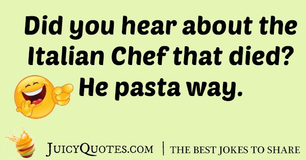 Italian Chef Sill Joke