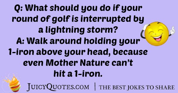 Golf With Lighting Storm Joke