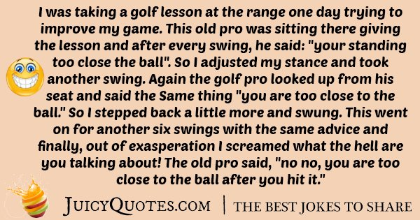 Golf Lesson Joke
