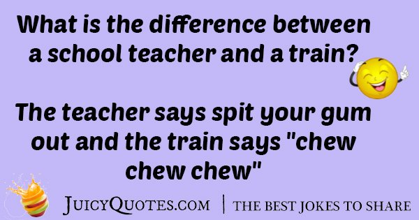 Teacher And A Train Joke