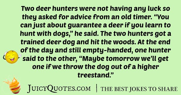Advice Hunting Joke