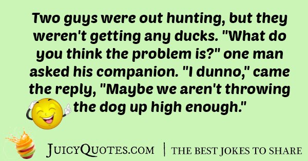 Hunting Ducks Joke