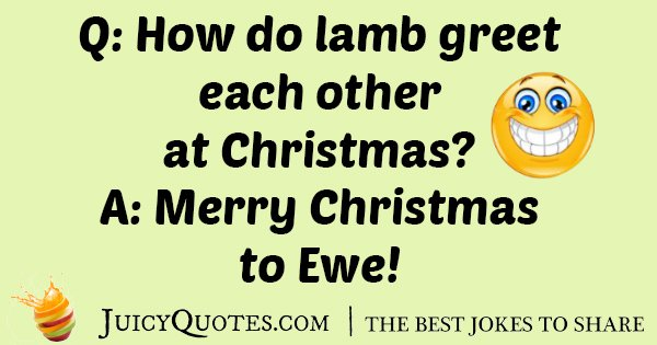 Lamb At Christmas Joke