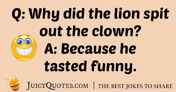Lion Spit Out Clown Joke