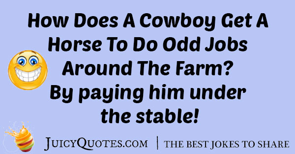 Cowboy On His Farm Joke